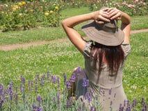 Femme de soleil Photographie stock libre de droits