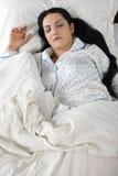 Femme de sommeil Images stock