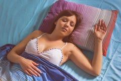 Femme de sommeil Image libre de droits