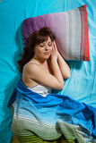 Femme de sommeil Photographie stock libre de droits