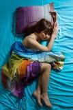 Femme de sommeil Image stock
