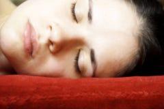 Femme de sommeil Photo libre de droits