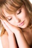 Femme de sommeil douce Image stock
