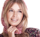 Femme de sourire avec le beau cheveu Photos libres de droits
