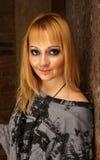 Femme de sourire avec le cheveu blond Photos libres de droits