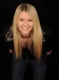 femme de sourire blonde photographie stock