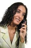 Femme de sourire d'affaires Photo stock