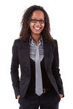Femme de sourire d'affaires d'afro-américain Photo stock