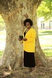 Femme de sourire d'Afro-américain Images libres de droits
