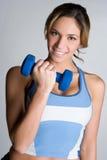 Femme de sourire d'exercice Photo stock