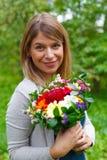 Femme de sourire dans l'amour Photos libres de droits