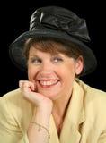 Femme de sourire dans le chapeau Image stock