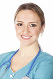 Femme de sourire de médecin avec le stéthoscope Photographie stock libre de droits