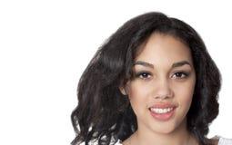 Femme de sourire de mulâtre Photo libre de droits