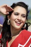 Femme de sourire de Pinup Photos stock