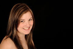 femme de sourire de verticale Photo stock