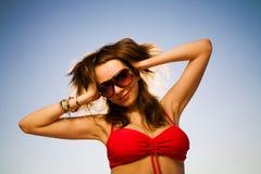 Femme de sourire heureuse photographie stock libre de droits