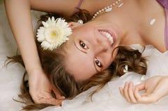Femme de sourire heureuse Photos libres de droits