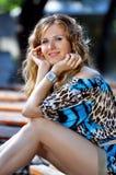 Femme de sourire heureuse Photographie stock