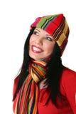 Femme de sourire vibrante image stock