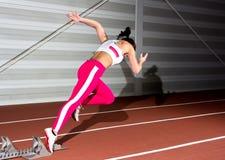 Femme de sprinter photographie stock
