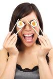 femme de sushi photographie stock libre de droits