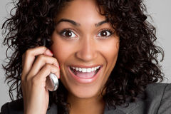 Femme de téléphone d'affaires images libres de droits
