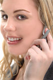 Femme de téléphone portable Images stock