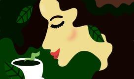 Femme de thé Illustration Libre de Droits