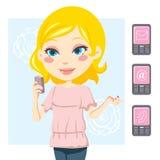 Femme de téléphone portable Photographie stock
