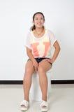 Femme de toilette photographie stock