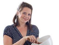femme de traitement au four Photographie stock libre de droits