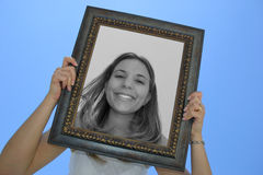 Femme de trame photographie stock
