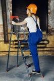 Femme de travailleur Photos stock