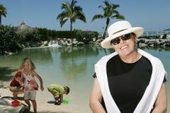 Femme de vacances Photos stock