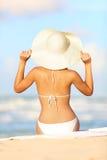 Femme de vacances de course Image libre de droits