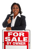 femme de vente à la maison photo stock