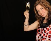 femme de verre de vin photographie stock libre de droits