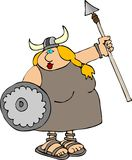 Femme de Viking illustration de vecteur
