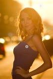 Femme de ville de charme Image stock