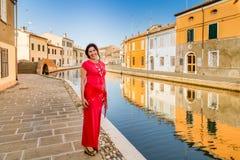Femme de voyage des vacances à petite Venise Photo libre de droits