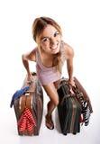 Femme de voyageur photographie stock libre de droits
