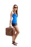 Femme de voyageur photographie stock