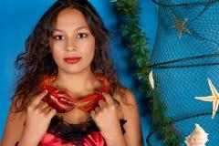 Femme de zodiaque de Cancer Image libre de droits