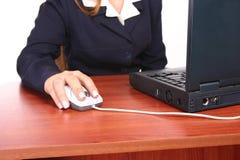 Femme desk1 d'affaires Image libre de droits