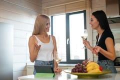 Femme deux dans la cuisine Photo libre de droits