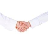 Femme deux se serrant la main Photos stock