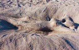 Femme diagonale de sable Photo libre de droits