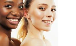 Femme différente de la nation trois : afro-américain, togeth caucasien Photos stock