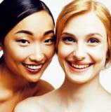 Femme différente de nation : Asiatique, afro-américain, toget caucasien Photo stock